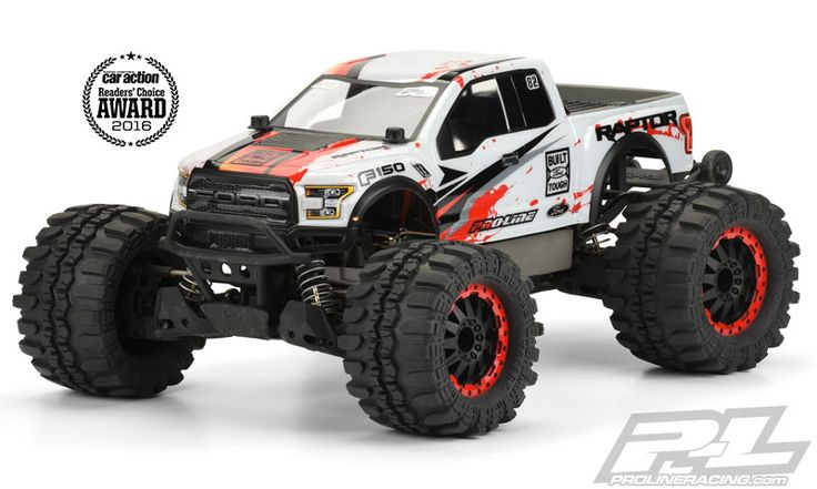 Introducing one of the most anticipated Truck bodies of all time: the all new 2017 Ford® F-150 Raptor truck body for Stampede® Trucks! Pro-Line has included all of the scale detail into the body and sticker sheet for a highly detailed yet functional replica of the 2017 Raptor. #prolineracing #ford #raptor #fordraptor #builtfordtough Mfg part number 3470