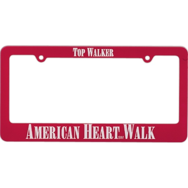 2 or 4 hole license plate frames from www.schoolspiritstore.com