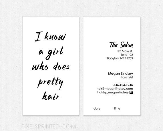 Clean And Catchy Designs Perfect For Both Hair Salons Freelance Professionals Find This Pin More On Business Card Ideas