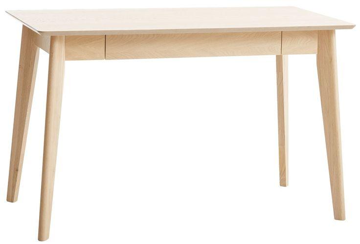 Íróasztal KALBY 1 fiókos világos tölgy   JYSK