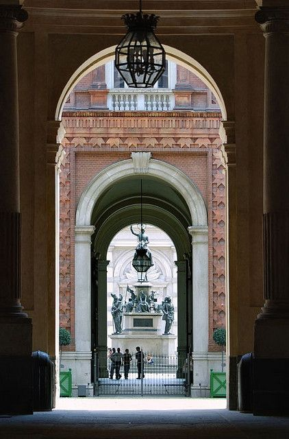 Arches in Turin, Italy. Turin is one of the most portico-covered cities in all of Europe. No need for an umbrella!