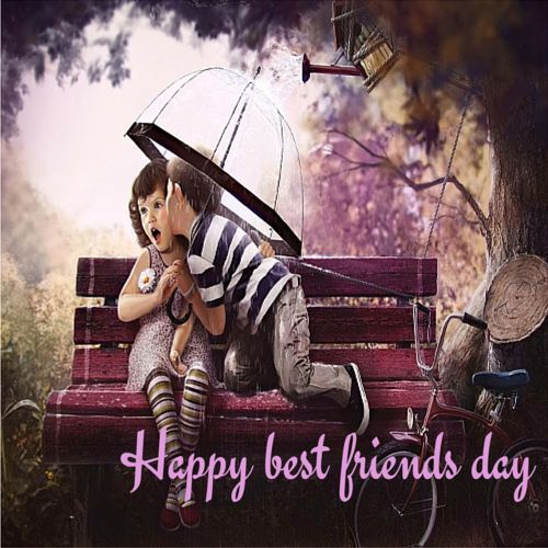 Wish your #bestfriend a happy #BestFriendsDay with a peck using this cute #ecard. #friendship #friends #free #cards #wishes #greetings.