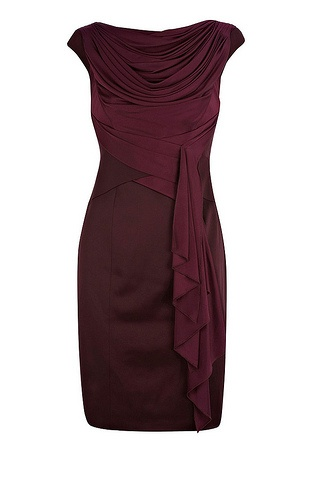"""Karen Millen - this colour is called """"wine"""" but what do you think of the cut?"""