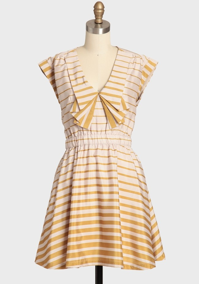 Dear creatures mustard yellow dress