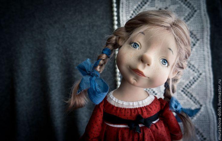 Купить Клюква в сахаре - ярко-красный, девочка, авторская ручная работа, авторская кукла