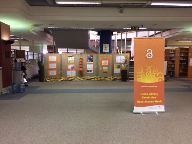 Open Access Exhibition at the UNISA Science Library during the week of 24  to 28 October 2016.