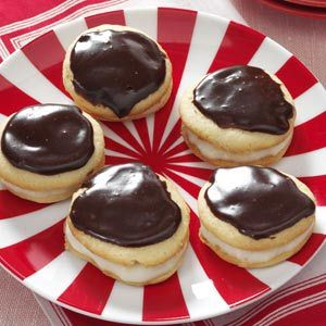 Boston Cream Pie Cookies from Taste of Home -- shared by Evangeline Bradford of Erlanger, Kentucky