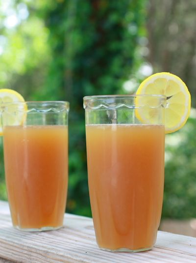 Nashville fruit tea*** Love this stuff! We make it w/o the lemon and with frozen pineapple and orange juice concetrate.