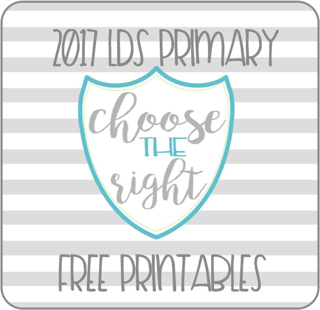 2017 LDS Primary printables. Binder covers, spines, assignment cards, door signs, and all FREE to use!!