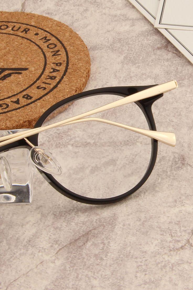 YC2040Black and Gold Black, Mens glasses, Gold