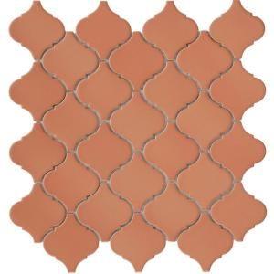 Lantern 12-1/2 in. x 12-1/2 in. Cotto Porcelain Mesh-Mounted Mosaic Tile-FKOLSD90 at The Home DepotPorcelain Mesh Mount, Mesh Mount Mosaics, Tile Lanterns, Cotto Porcelain, Moroccan Style, Mosaic Tiles, Mosaics Tile, Merola Tile, Moroccan Tile
