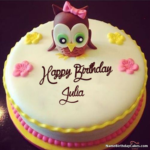 Happy Birthday Julia - Video And Images