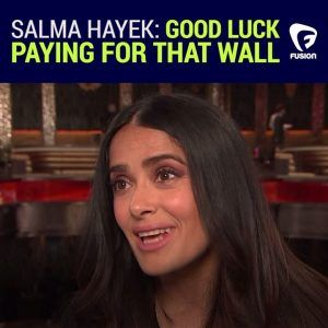 Id like to see his face when he gets the budget.  Mexican actress Salma Hayek Pinault i #news #alternativenews