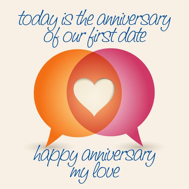 "Happy ""First Date"" Anniversary my love! XoXoXoX"