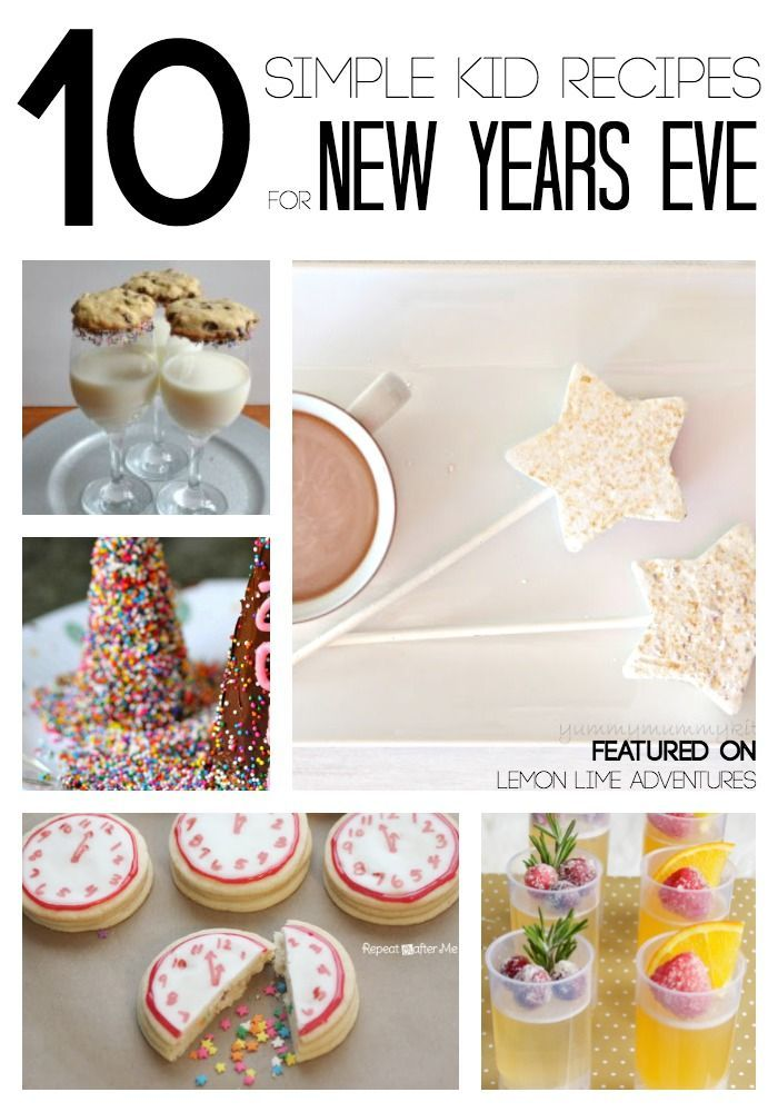 Simple New Year's Eve Recipes for Kids