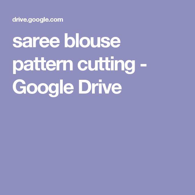 saree blouse pattern cutting  - Google Drive
