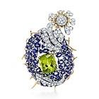 Tiffany & Co. Jean Schlumberger  Sapphire, peridot and diamond bluet clip.  $75,000.00