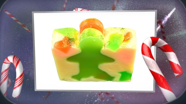 Gingerbread Man Soap, new for Christmas