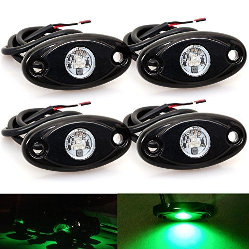 LEDMIRCY LED Rock Lights Green Kit for JEEP Off Road Truck ATV SUV Car Boat Auto High Power Underbody Glow Neon Trail Rig Lamp Underglow Lights Waterproof Shockproof(Pack of 4,Green). For product info go to:  https://www.caraccessoriesonlinemarket.com/ledmircy-led-rock-lights-green-kit-for-jeep-off-road-truck-atv-suv-car-boat-auto-high-power-underbody-glow-neon-trail-rig-lamp-underglow-lights-waterproof-shockproofpack-of-4green/