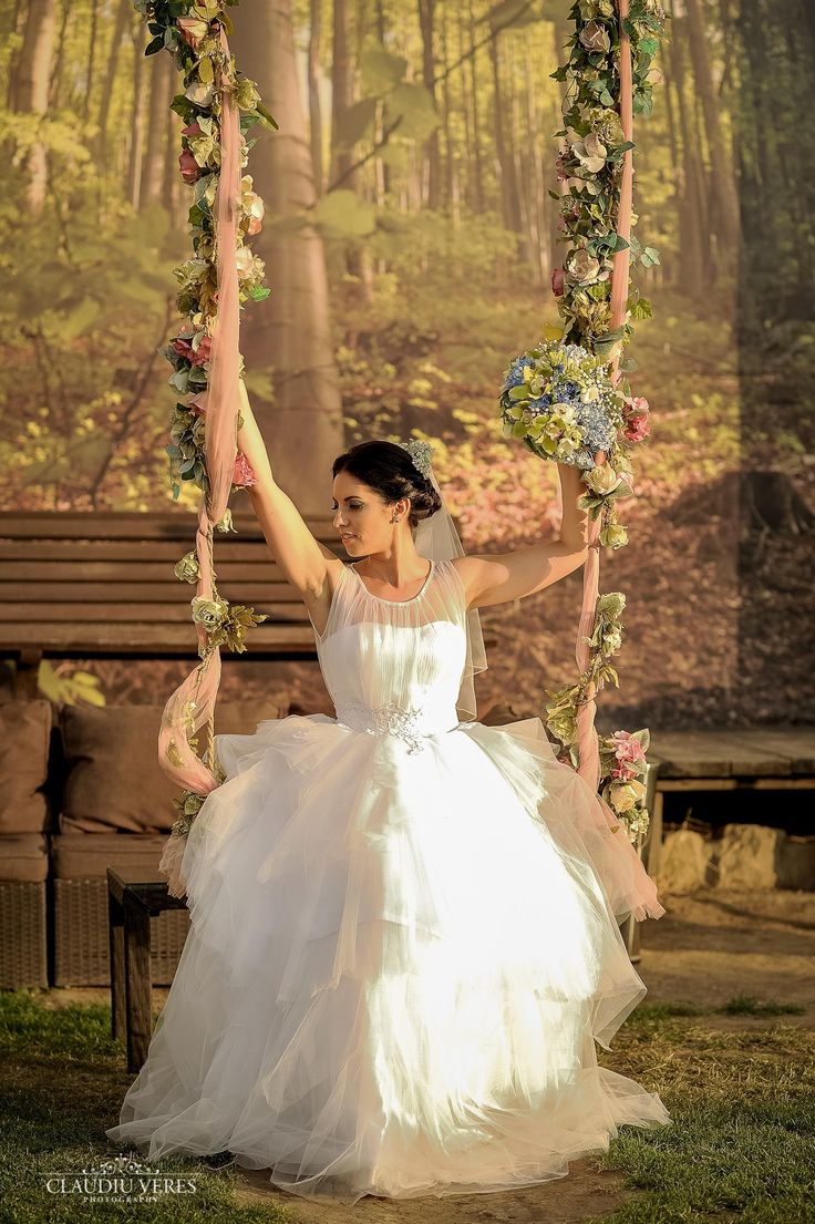 Beautiful asymmetric wedding dress
