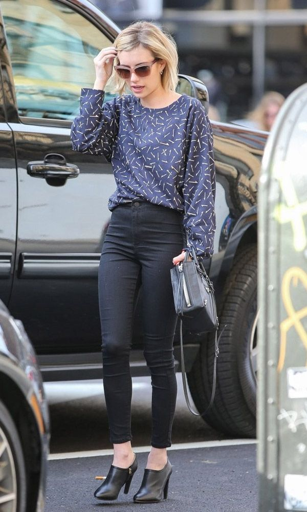 Emma Roberts Street Style Casual Look