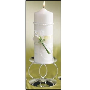 """Unity Pillar Candle 3"""" x 9"""" (Bridal Beauty Calla Lily Collection)"""