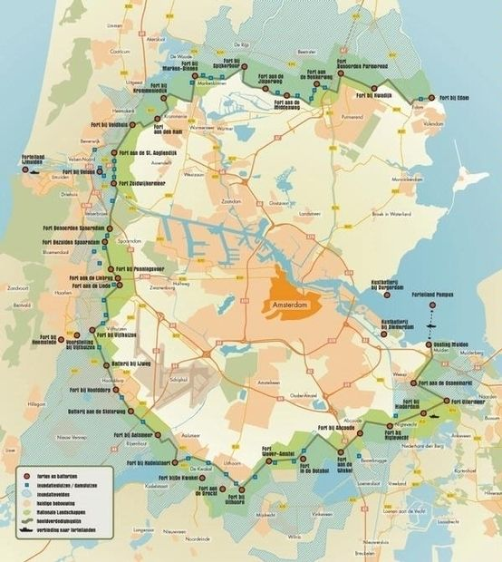 Map of the Defence Line of Amsterdam