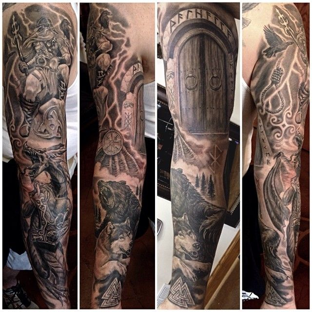 25 best images about tattoo ideas on pinterest thors for Norse tattoo sleeve