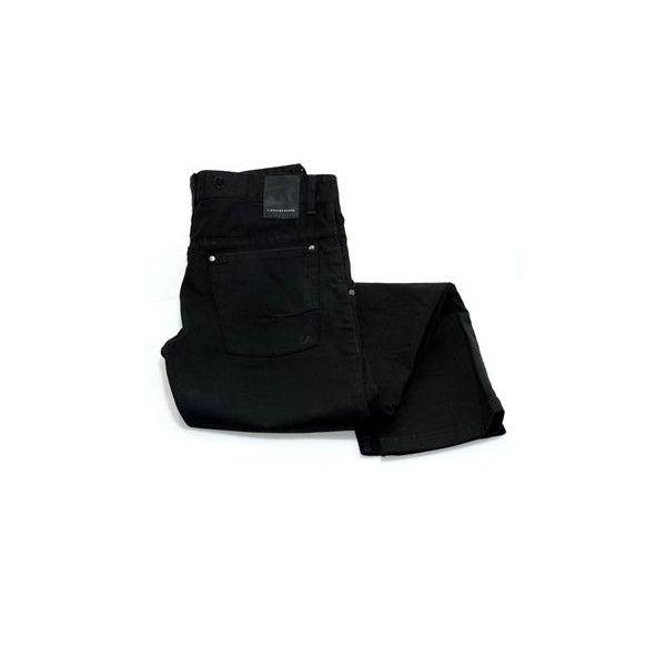 Herre jeans med skrå lomme by 2 Blocks South. Køb produkter fra... ❤ liked on Polyvore featuring jeans, pants, bottoms, calças, mens jeans, black jeans and color block jeans