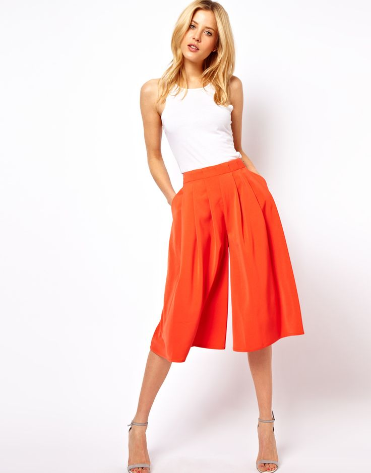 Culottes with Pleated Front