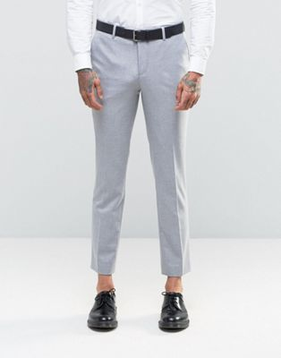 River Island Slim Fit Suit Pants In Light Gray