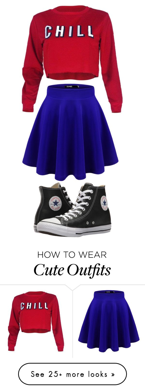 """Cute outfit"" by parulsingla on Polyvore featuring Doublju, Converse, parisfashionweek and Packandgo"