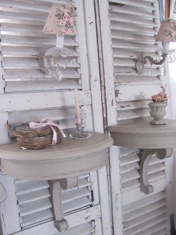 VENDUES Superbe paire de chevets mural ancienne patinée - meubles - -Louise patine- - Fait Maison