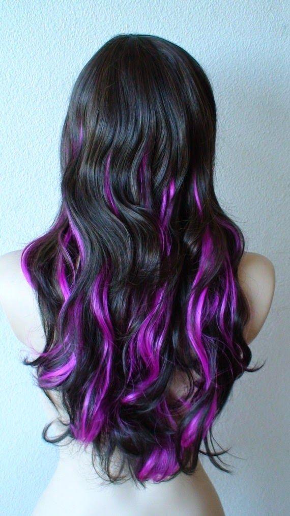 Blonde with Purple Highlights Pretty-Purple-Highli