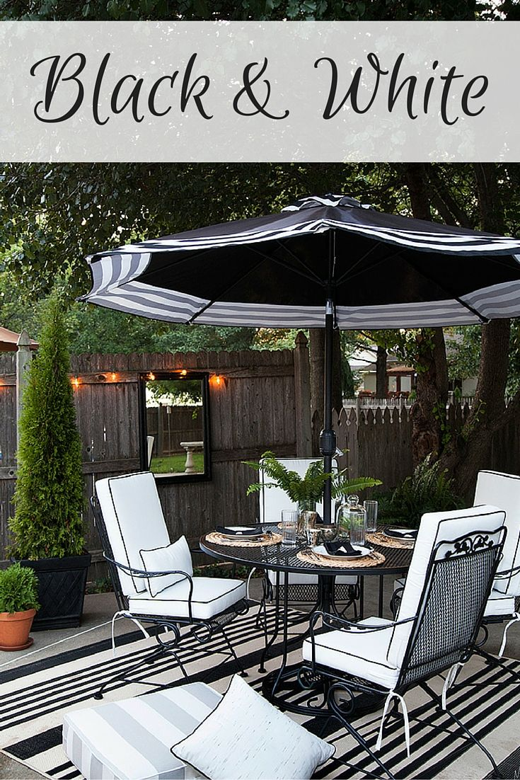 Great Designing An Outdoor Dining Area In Black And White Can Create An Elegant  Look.