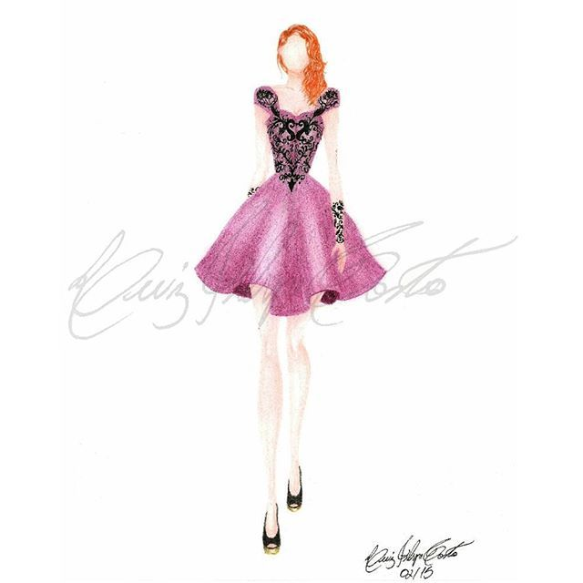 #croqui #fashionillustration #fashion #houtecouture #croquis