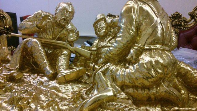 Зеркальное золочение барильефов и статуэток. 100% эффект сусального золото. Элитный подарок.