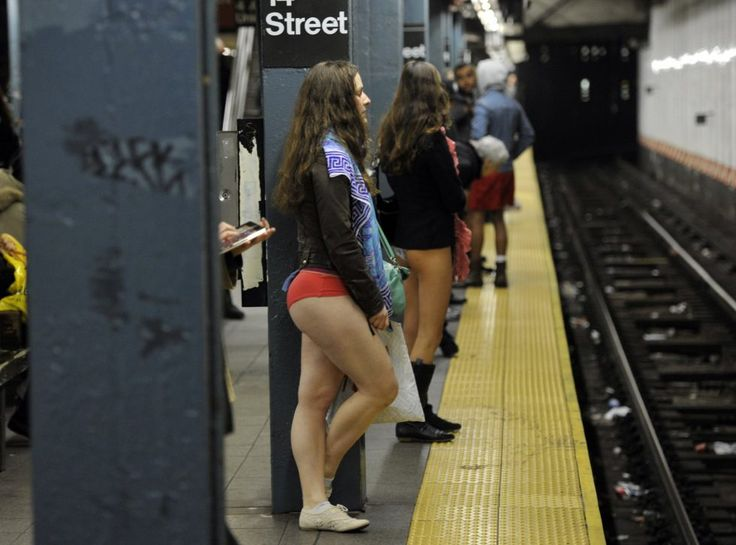 After 15 years, still funny: No Pants Subway Ride - No Pants Subway Ride 2018 Hundreds of people braved wintery conditions on Sunday to celebrate the 'No Pants Subway Ride,' a yearly event which sees commuters forgo trousers on public transport.