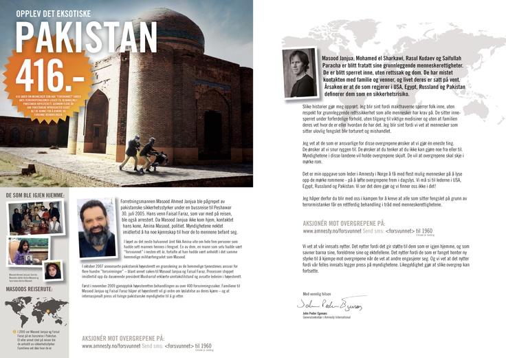 Amnesty folder. Uspesifisert. Side 6-7