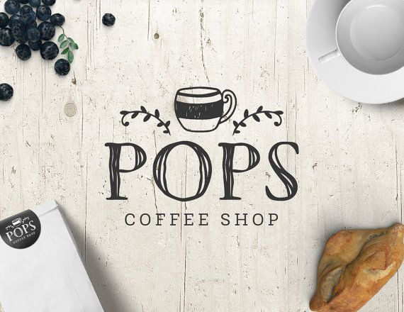 Coffee Shop Logo - Logo Design - Premade Logo - Personalized - Customized Coffee Shop Cafe Coffee Cup Graphic Professional Business Logo