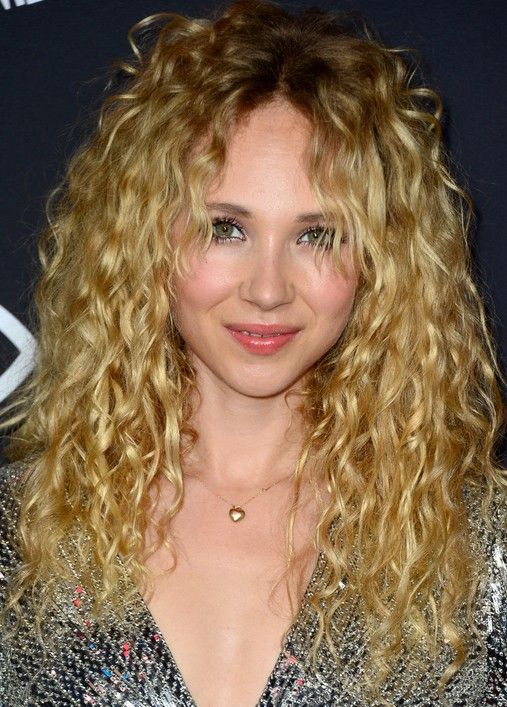 Juno Temple Long Blonde Curly Hairstyles for 2015