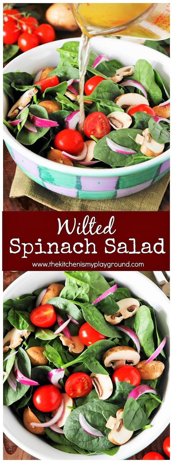 How to Make Wilted Spinach Salad with Warm Dressing Image