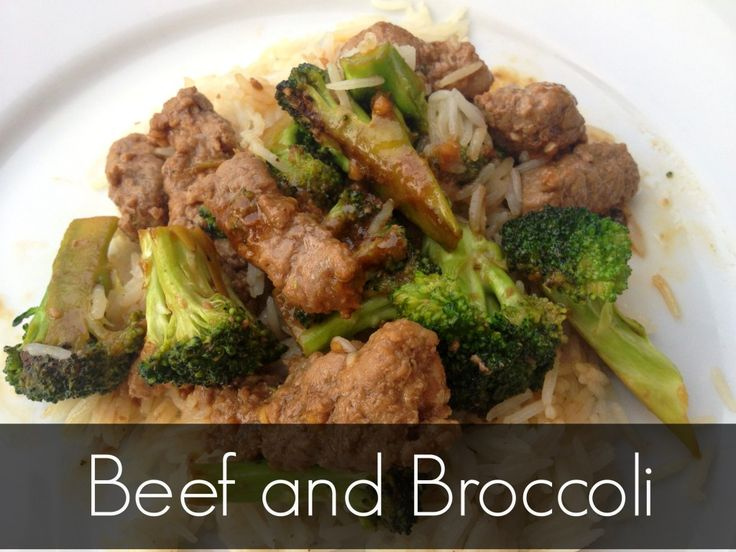 Beef and broccoli. A simple weeknight meal, done in under 30 minutes.