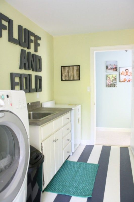 High Style, Low Cost Laundry Room Makeover by Designer Trapped in a Lawyer's Body featured on Remodelaholic.com