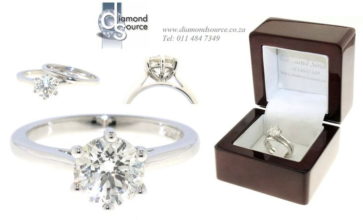 Classic & Timeless wedding set -  This is another one of our most recent commissions featuring an 18ct. White Gold wedding set. The 6-prong solitaire engagement ring is set with a 1.30ct. Round Brilliant-cut diamond. Please email or call us with any queries. FREE QUOTATIONS on any jewellery design you require. E: info@diamondsource.co.za W: www.diamondsource.co.za T: 011 484 7349