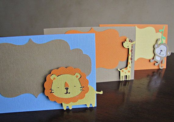 Safari Party Food Tent / Place Cards Jungle Fun by ScrapYourStory, $1.25