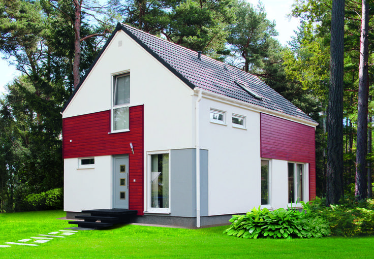 Eineinhalbgeschossige Häuser Living Point 114 || #houses #hauser || http://www.danwood.de/hauser/eineinhalbgeschossige/living-point-114