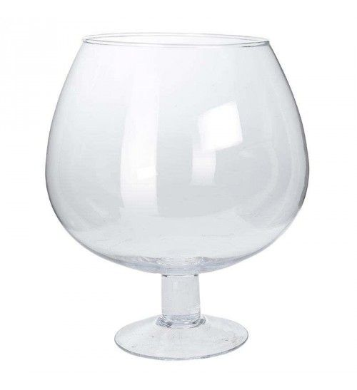 GLASS BOWL IN CLEAR COLOR 23X23X26