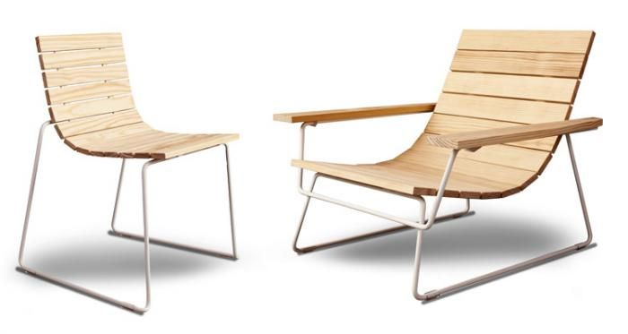 A modern take on the Adirondack chair by Eric Pfeiffer for SF-based Council Design