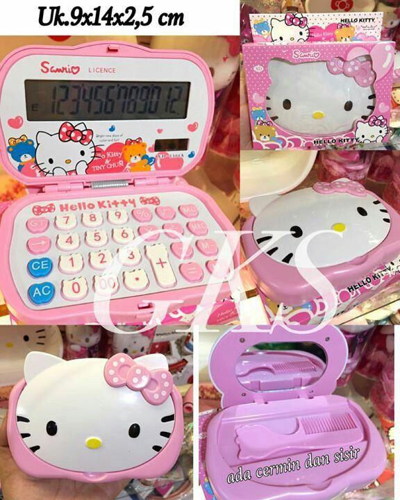 #kalkulator lipat #hellokitty + #cermin & #sisir @ 85.000